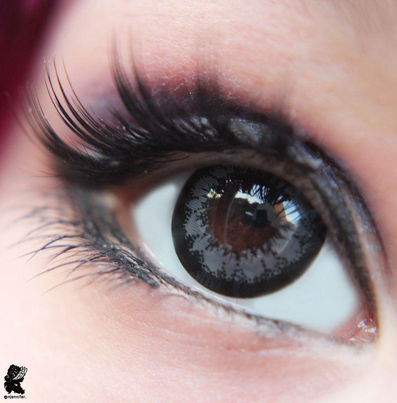 Super Angel grey Geo lenses appear dark grey on medium to ...