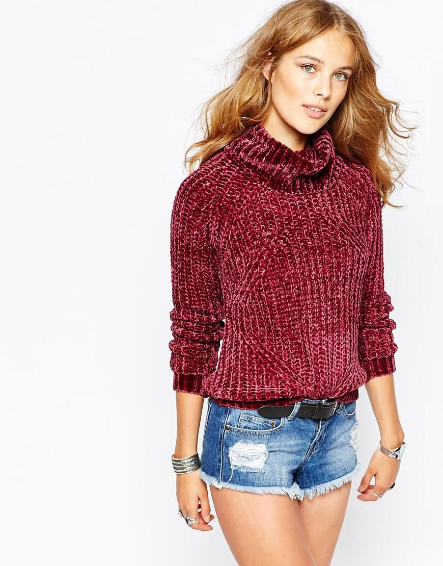 Image 1 of Stitch & Pieces Chenille Roll Neck Sweater | Clothes ...