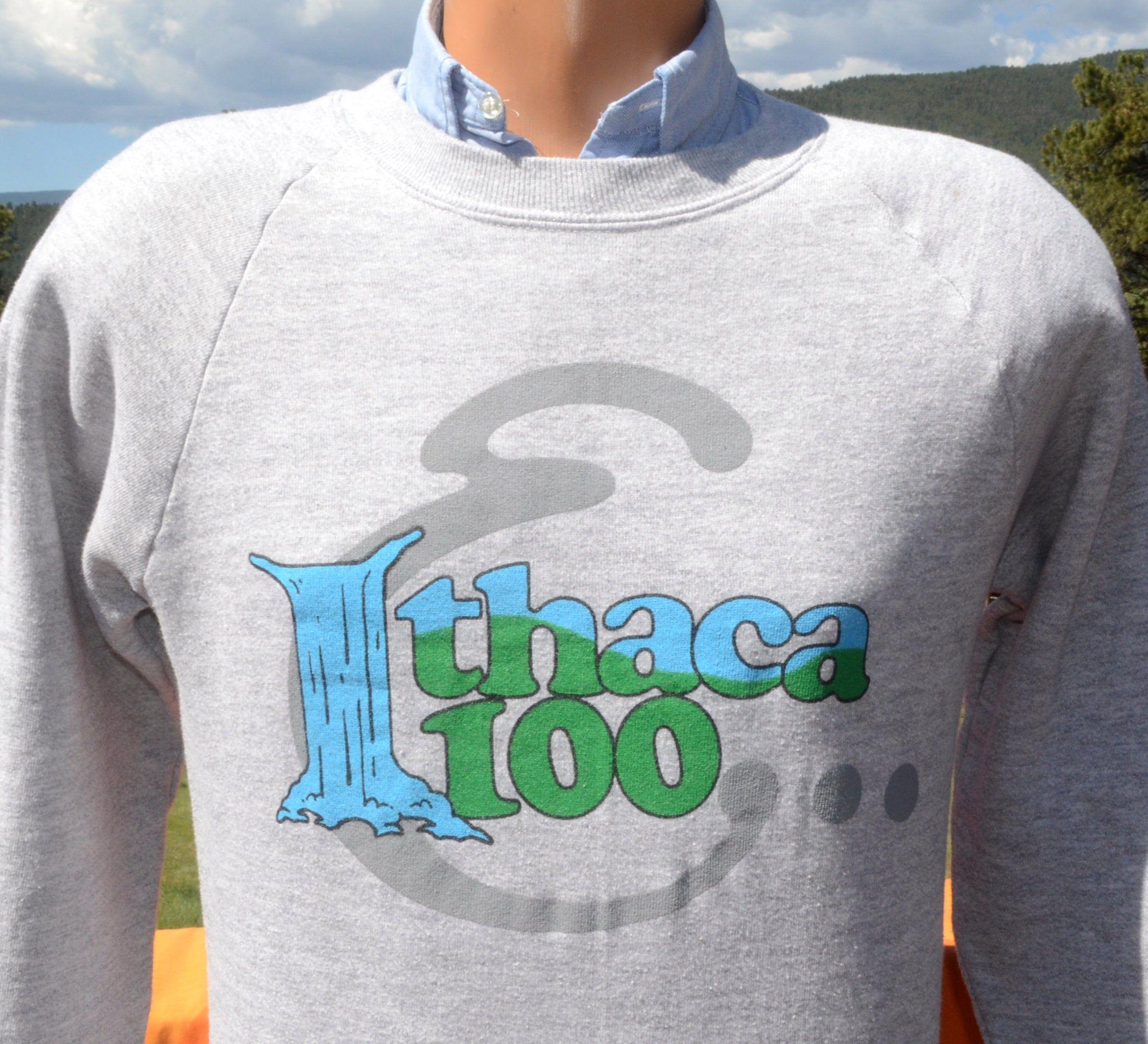 vintage 80s sweatshirt ITHACA new york 100 crewneck