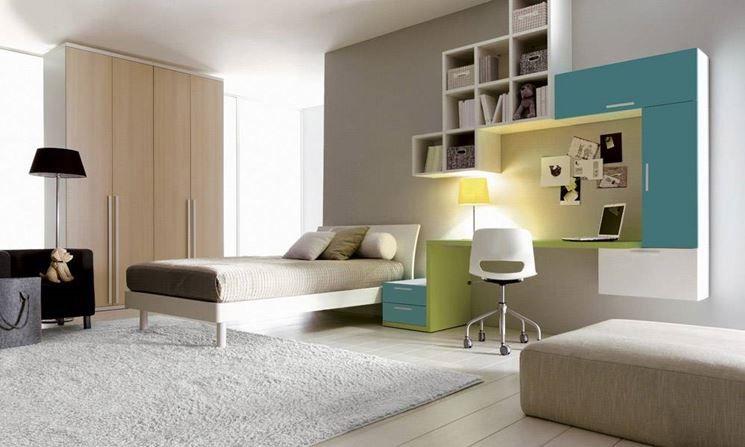 Camerette Contemporanee ~ Composición #dormitorio para #jóvenes y #niños doimo cityline