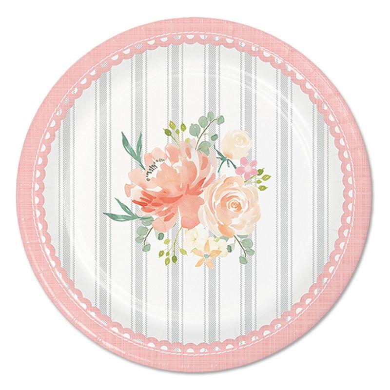 Farmhouse Floral 7in Dessert Plate 8ct
