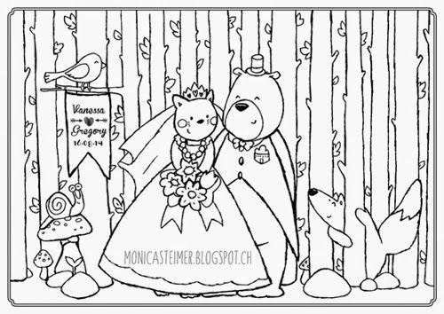 Set de table mariage enfant colorier wedding - Set de table a colorier pour mariage ...