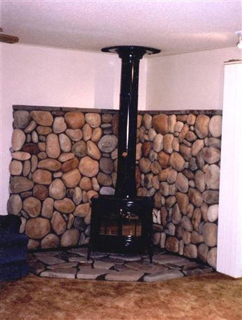 Tile Behind Wood Stoves Positive Chimney And Fire Place