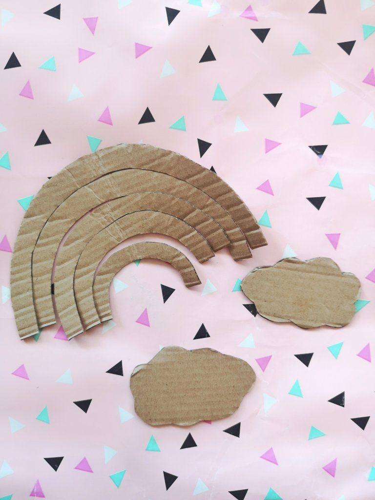 Photo of DIY Regenbogen aus Pappe – Kinderzimmer Deko einfach selber machen – kleinliebchen