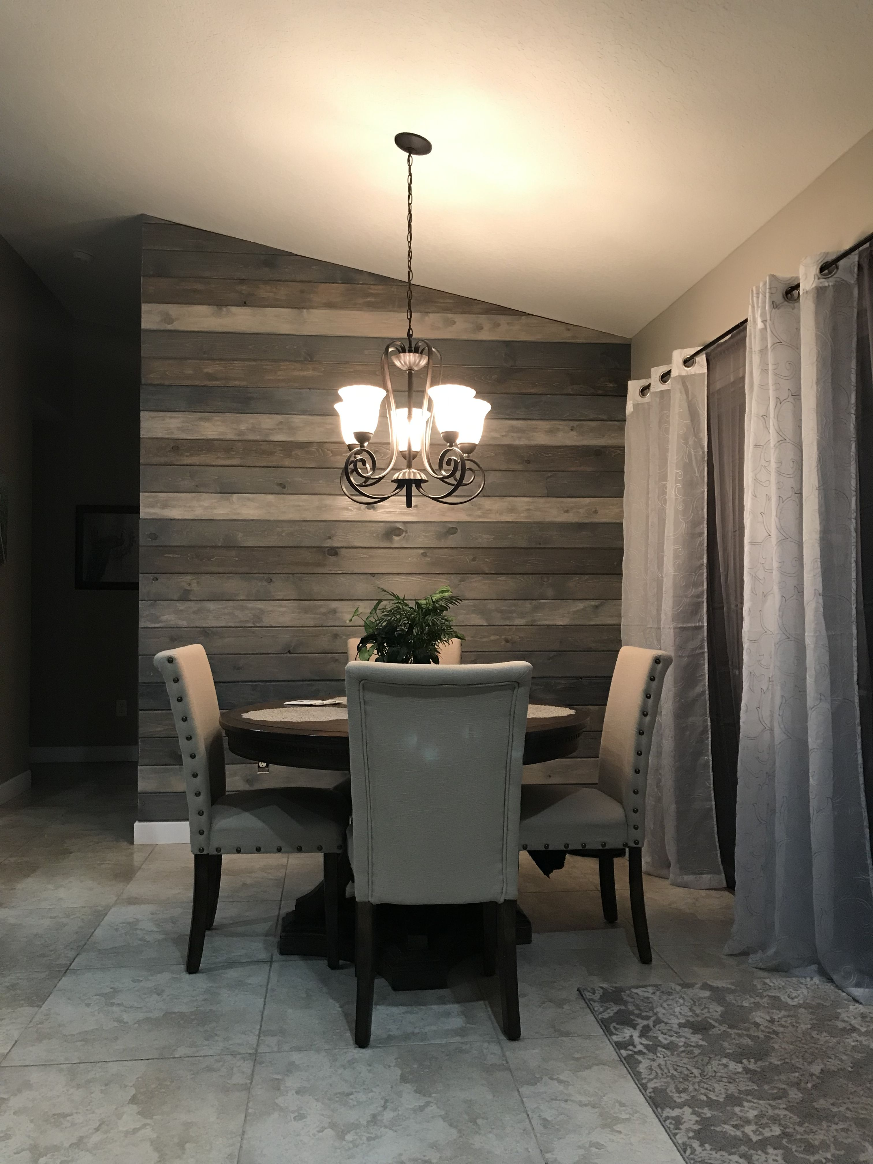 Multi Color Shiplap To Make A Feature Wall Great Blend Of Grays