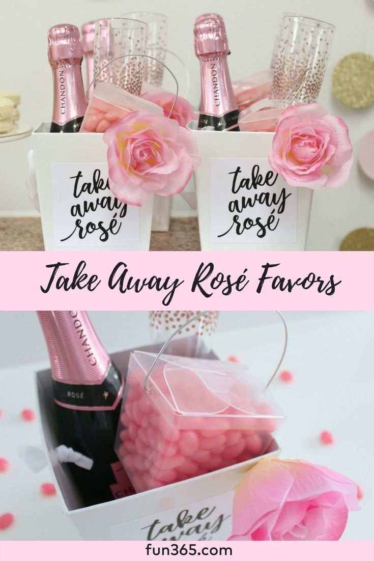 We love these adorable rosé themed party favors! Give these party ...