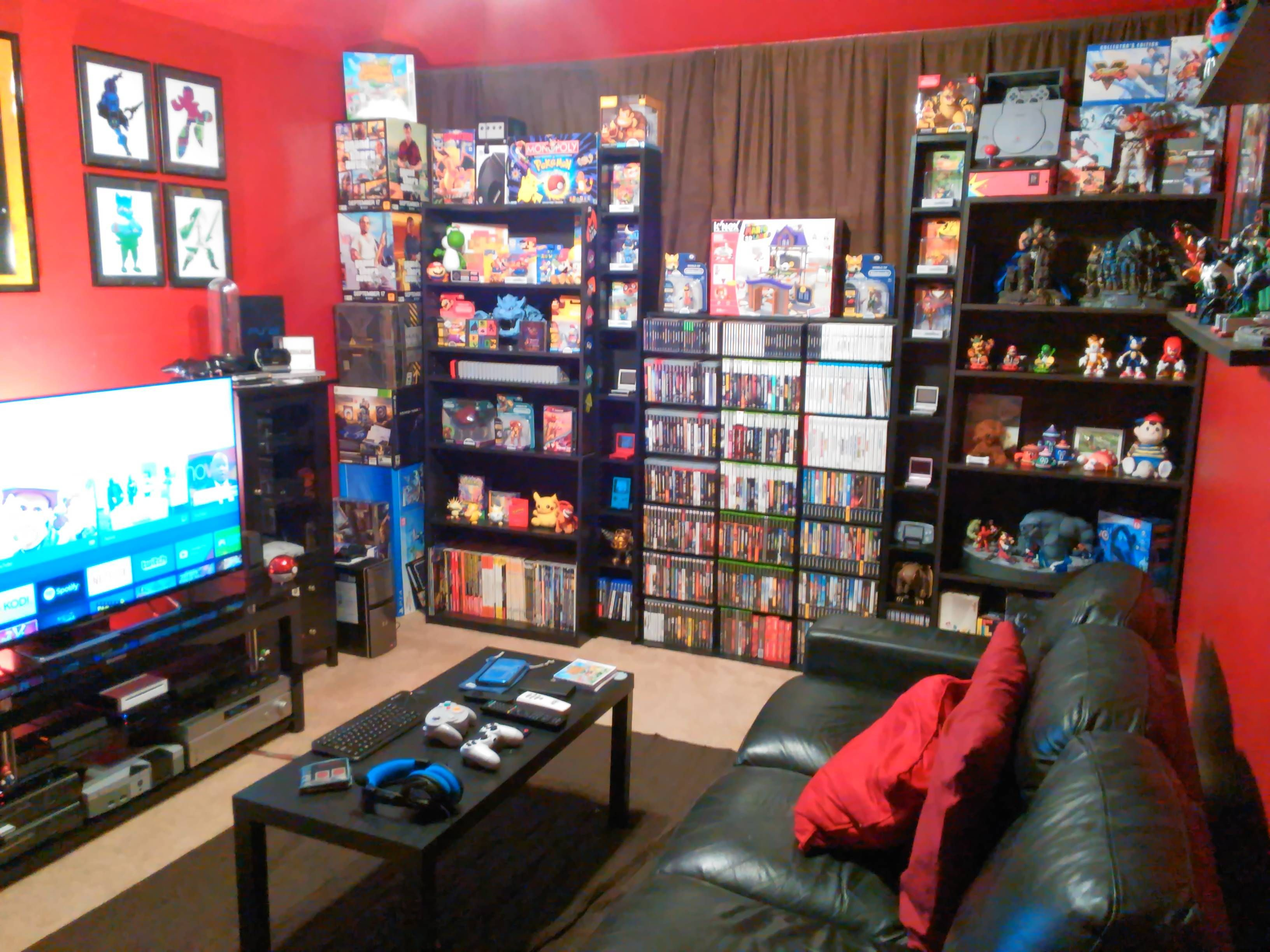 2 50 Shelves Go A Long Way For A Game Room Video Game Rooms