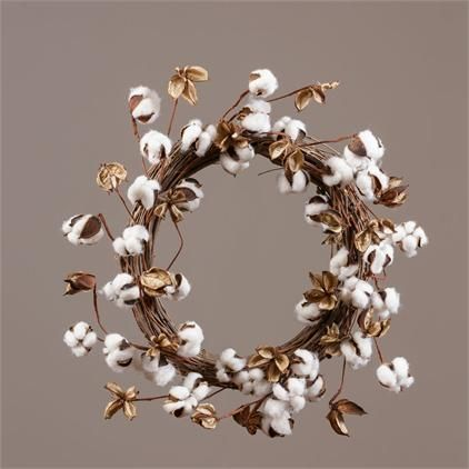 Nothing more stylish than a cotton wreath hanging in your home! Grab yours today!