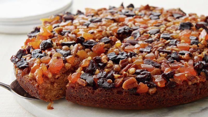 Upside Down Fruit Cake Recipe Fruit Cake Desserts Classic