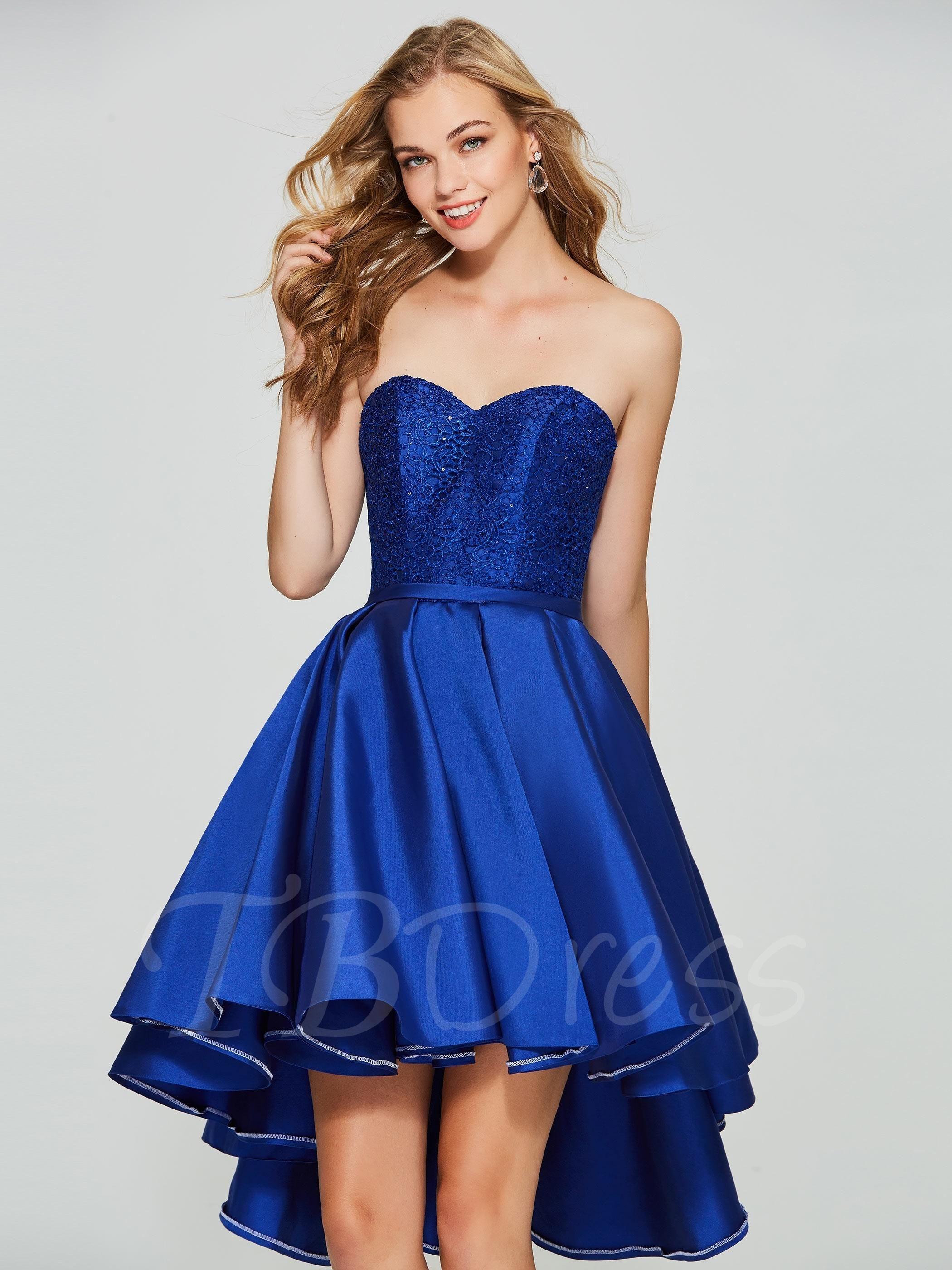 Tbdress tbdress aline sweetheart lace sequins asymmetry