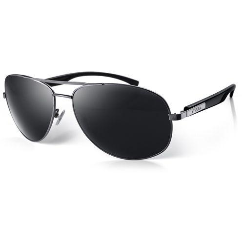 Óculos de Sol Aviador Masculino Acetato Preto   Relogios e Afins ... 8f091f5a39