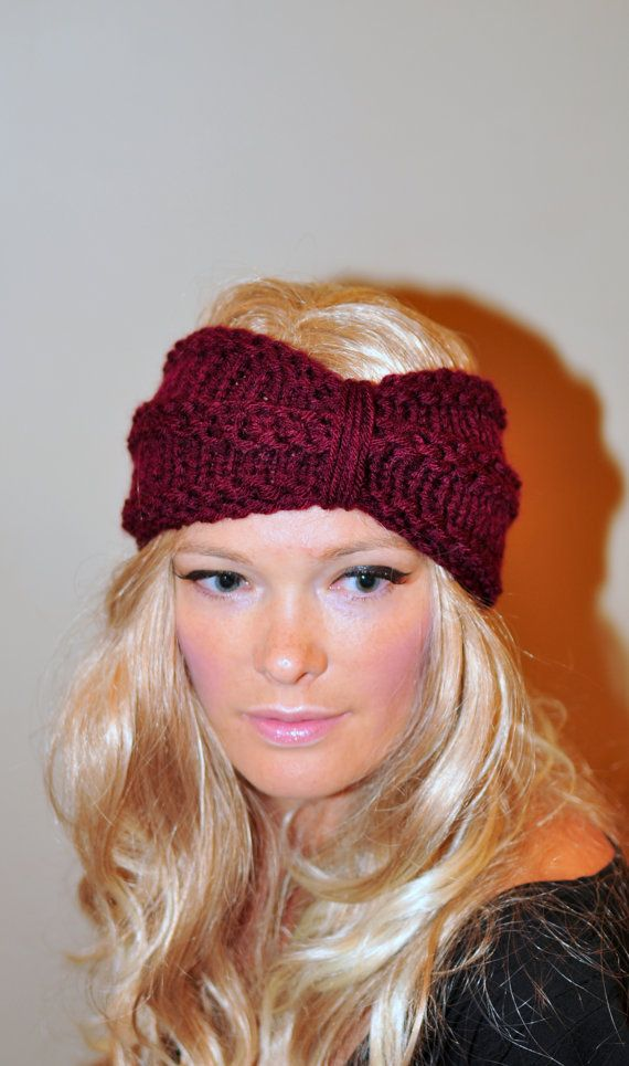 Turban Headband Crochet Head wrap Knit ear warmer Earwarmer CHOOSE ...