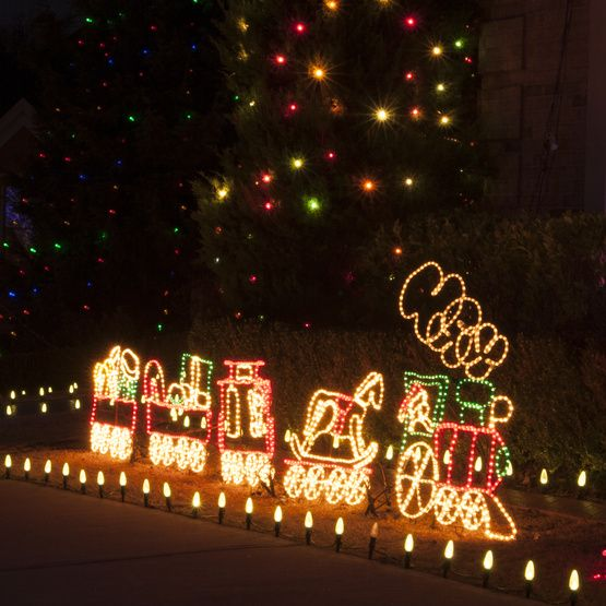 17' Rope Light Train | Christmas Tree Trains | Pinterest | Christmas ...