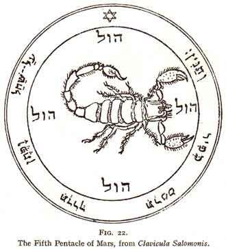 Vinyl Sticker Decal 20 Sixth Pentacle of Mars Seal of Solomon