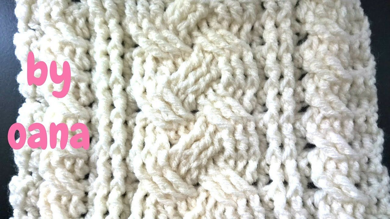 crochet cable pattern stitch | najat alzaben | Pinterest | Puntadas ...