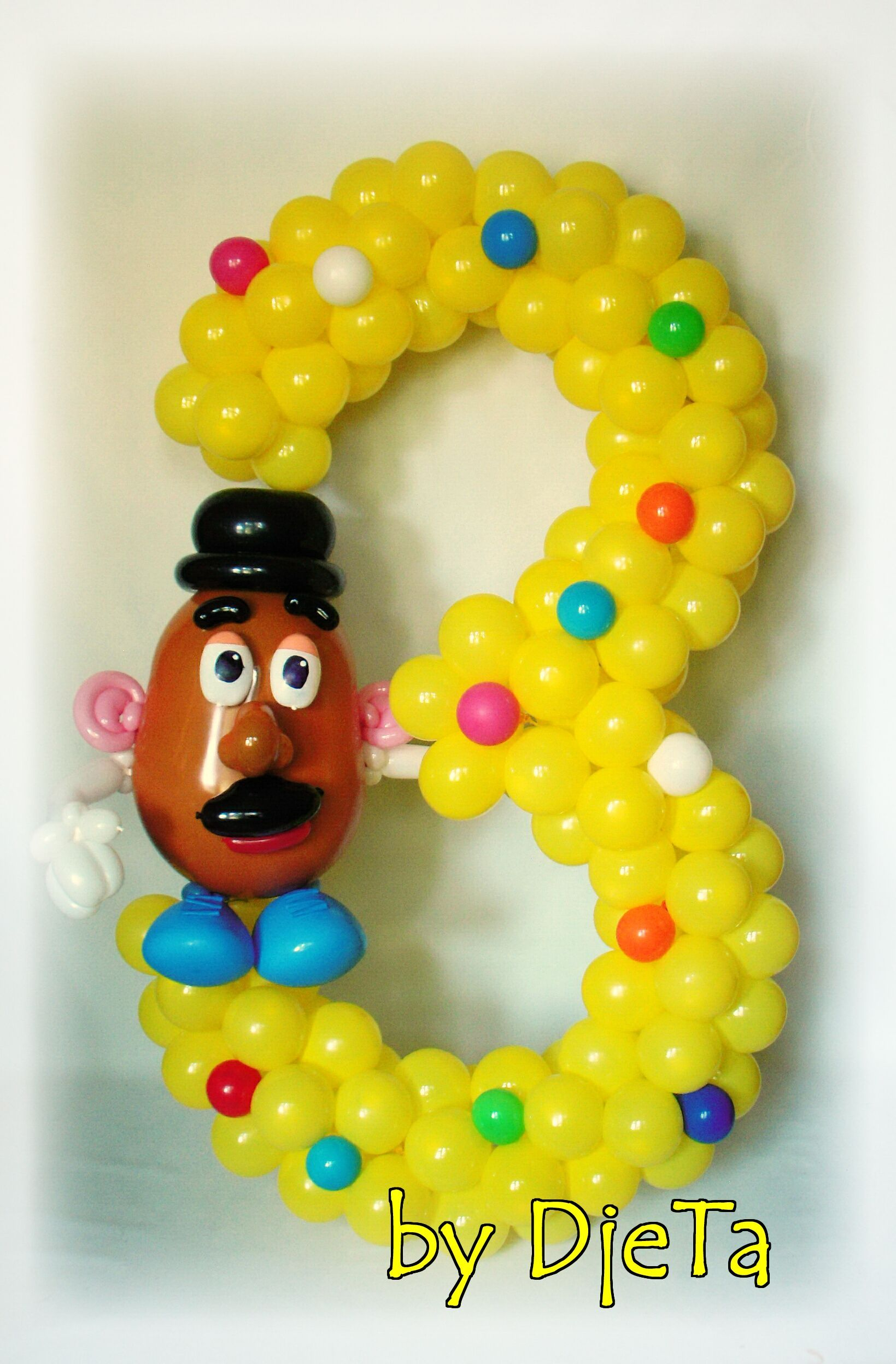 Mr Potato Head Themed Number Balloons Numbers Baloon