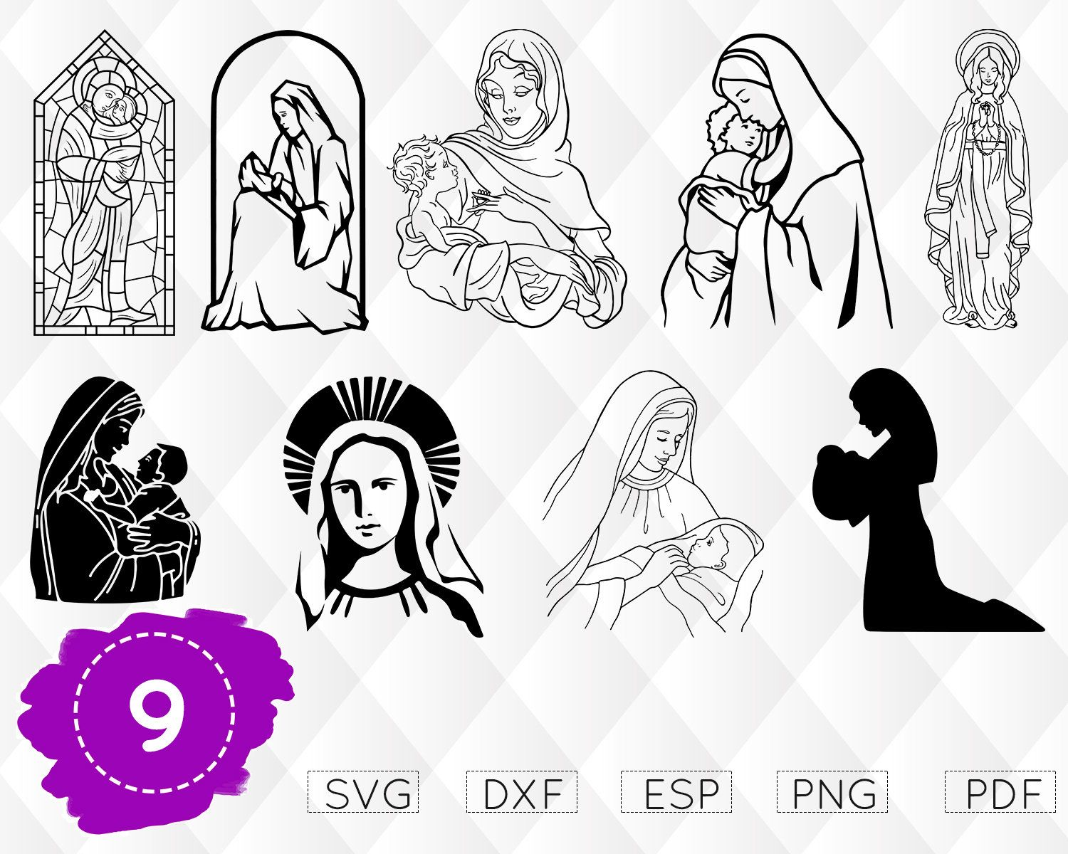 Virgin Mary Svg Mother Of Jesus Svg Mary Mother Of Jesus Svg Virgin Mary Vector Holy Mary Vector Virgin Mary Clipart B Virgin Mary Holy Mary Blessed Mary