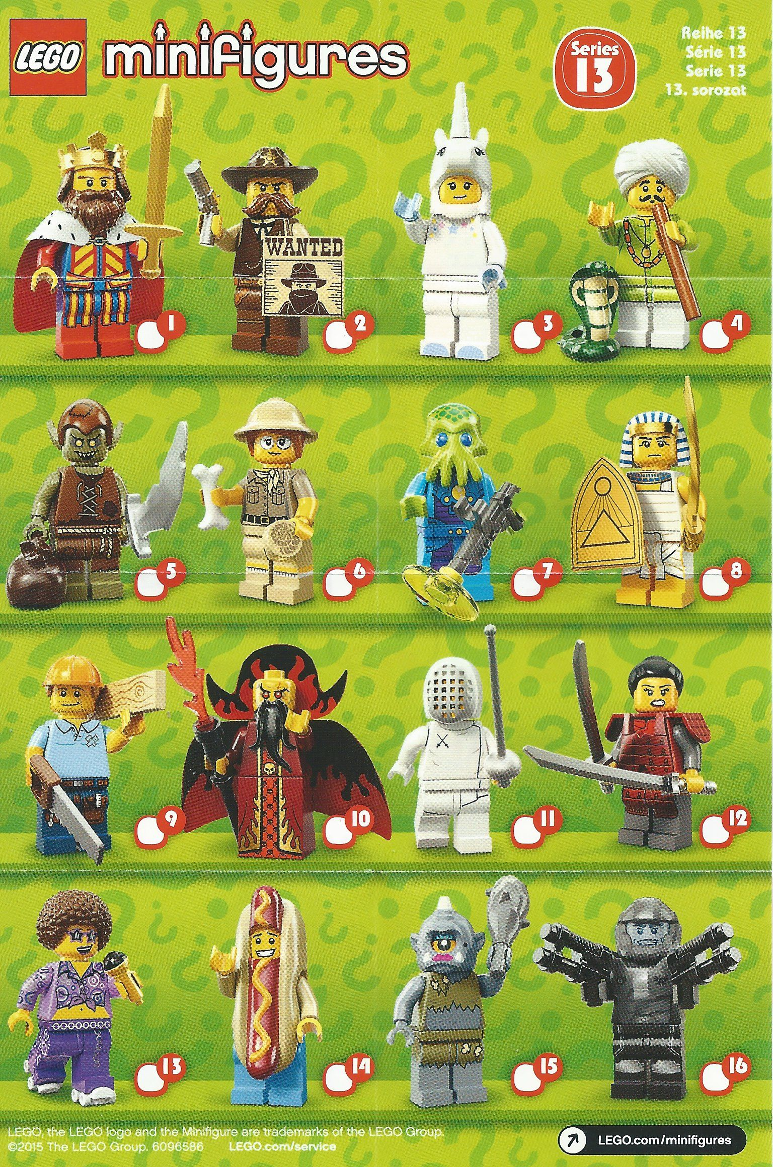 CHOOSE YOUR FIGURE 71008 LEGO Minifigures SERIES 13 NEW