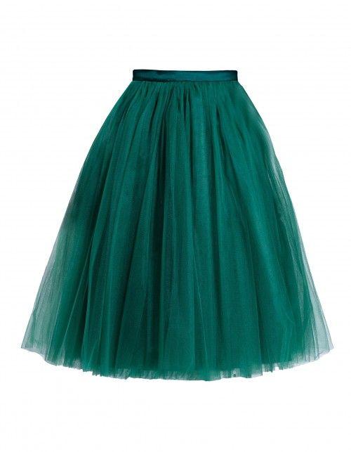 f38d3da0 Spódnica tiulowa butelkowa zieleń | Fanfaronada | Kolor: Zieleń ...