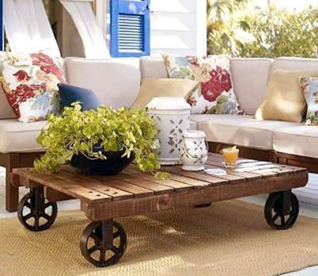 Mesas con material reciclado, anímate a realizar alguna de ellas ...