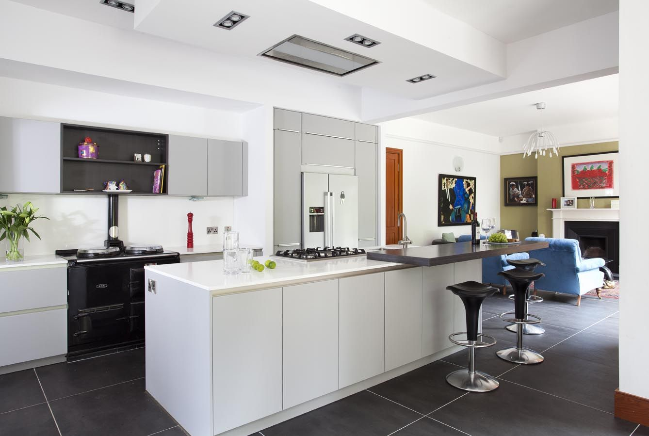 Renovated Kitchen Nottinghill Belfast Grey Schuller Kitchen Installed In A
