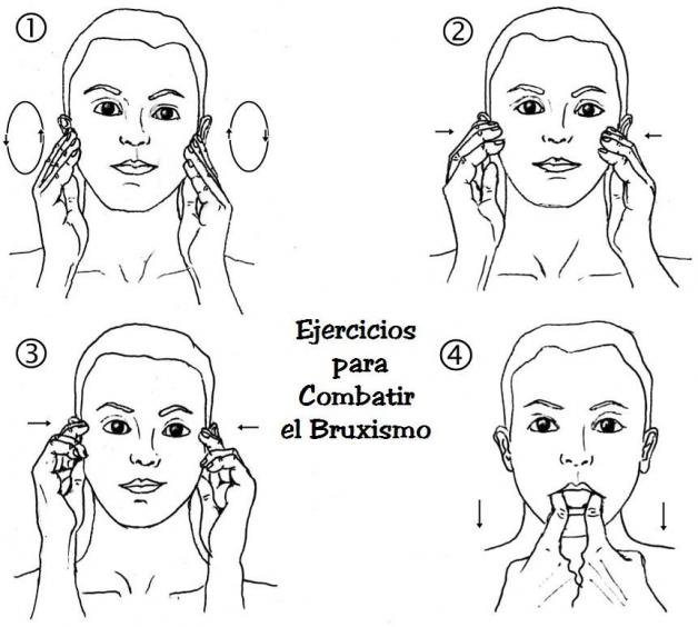 4 Ejercicios Para Combatir El Bruxismo Bruxismo Dental Ejercicios Dolor De Mandibula