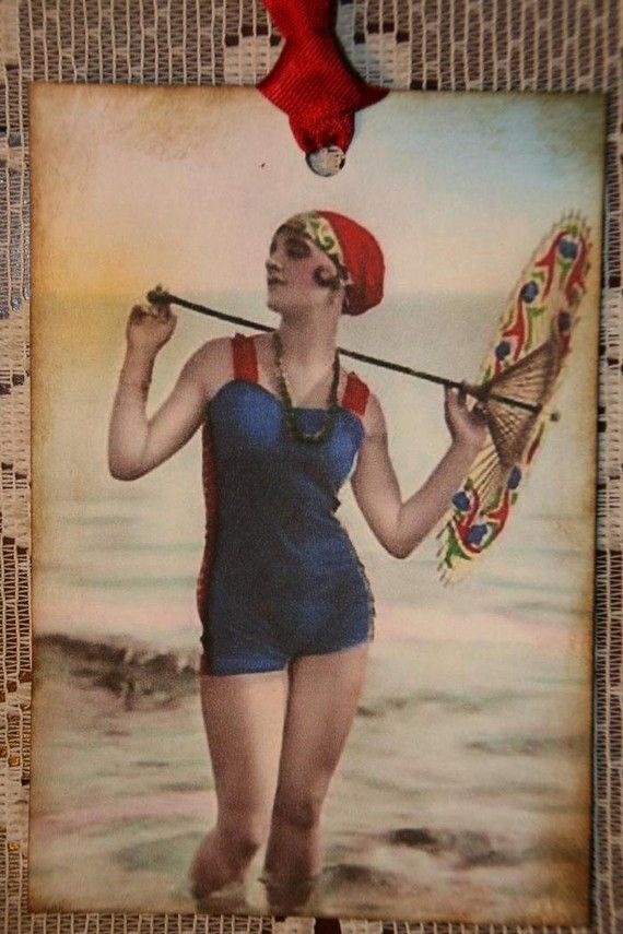 Vintage Bathing Beauty Gift Tags