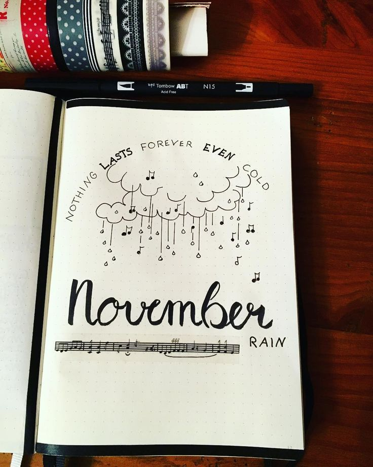 #Bullet #cover #Journal #monthly #November #Page #rain #Bullet #journal #monthly Bullet journal monthly cover page, November cover ... - #novemberbulletjournalcover