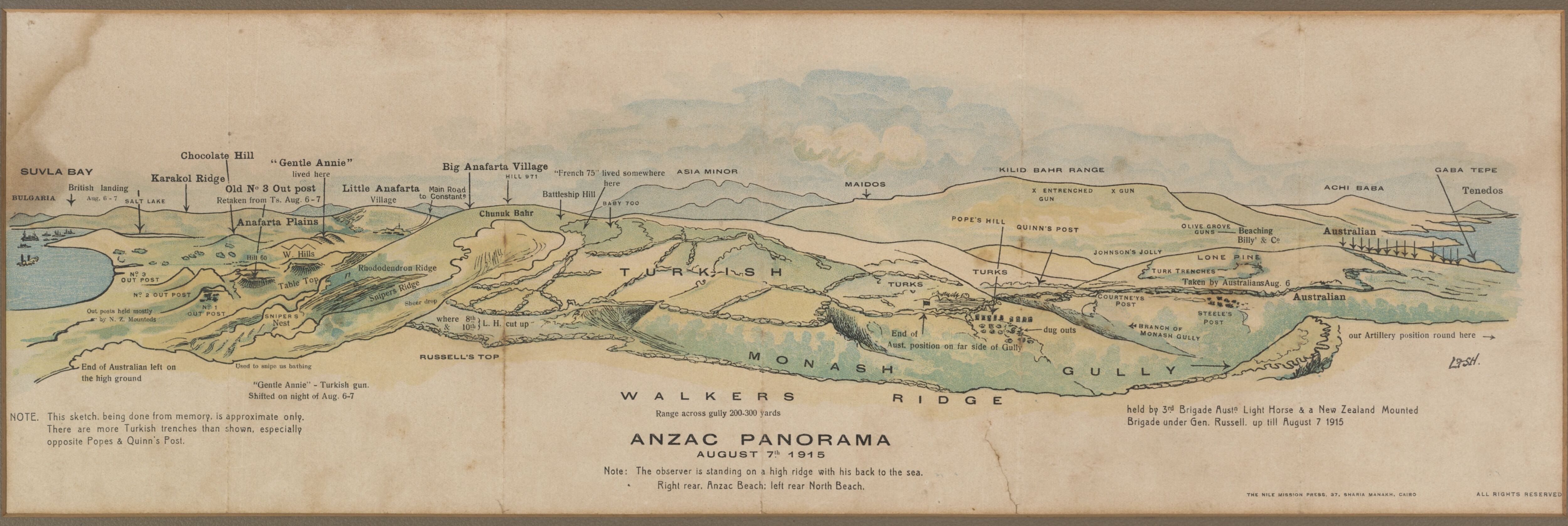 Map of gallipoli peninsula turkey showing the dispositions of the map of gallipoli peninsula turkey showing the dispositions of the australian forces on 7 august gumiabroncs Image collections