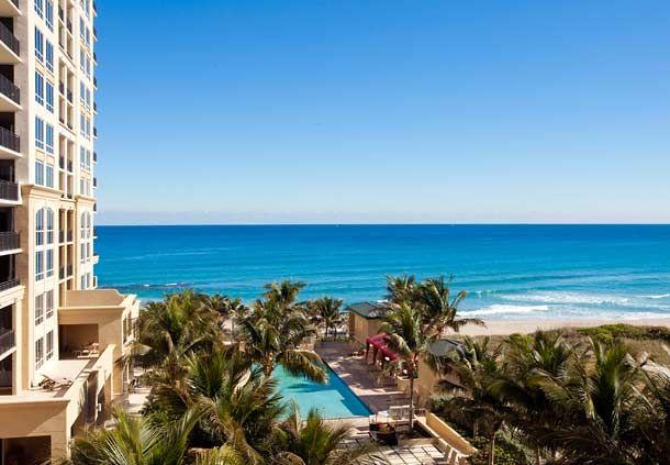 La vista al mar de nuestro Palm Beach Marriott Singer Island Beach Resort & Spa en Florida