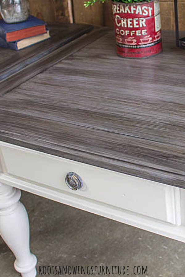 Farmhouse End Table Makeover Grey Stained Wood Diy Wood Stain