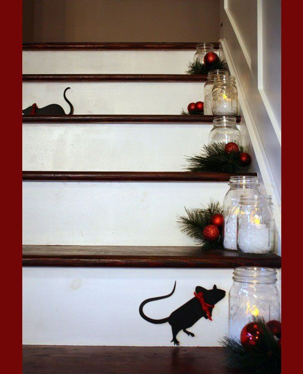 Omgoodness This Is So Cute Christmas Stairs Decorations Christmas Staircase Christmas Stairs