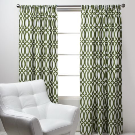 Geo Panels Green From Z Gallerie Maybe In The Morning Room Hmmmmm Affordable Modern Furniture Modern Curtains Stylish Home Decor