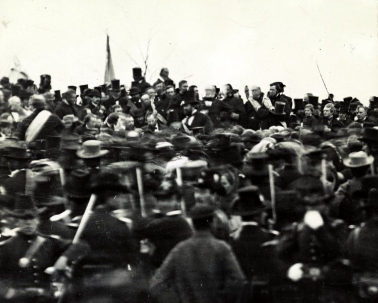 The Gettysburg Address: Photos, analysis & the full text of Abraham Lincoln's famous speech (1863 #famousspeeches Photos from the day of Abraham Lincoln's Gettysburg Address (1863) - Click Americana #famousspeeches The Gettysburg Address: Photos, analysis & the full text of Abraham Lincoln's famous speech (1863 #famousspeeches Photos from the day of Abraham Lincoln's Gettysburg Address (1863) - Click Americana #famousspeeches