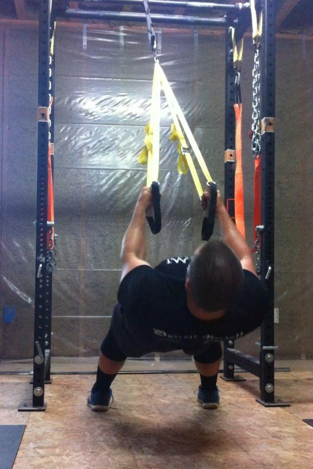 Diy rows on suspension straps garage gym guy great on diy