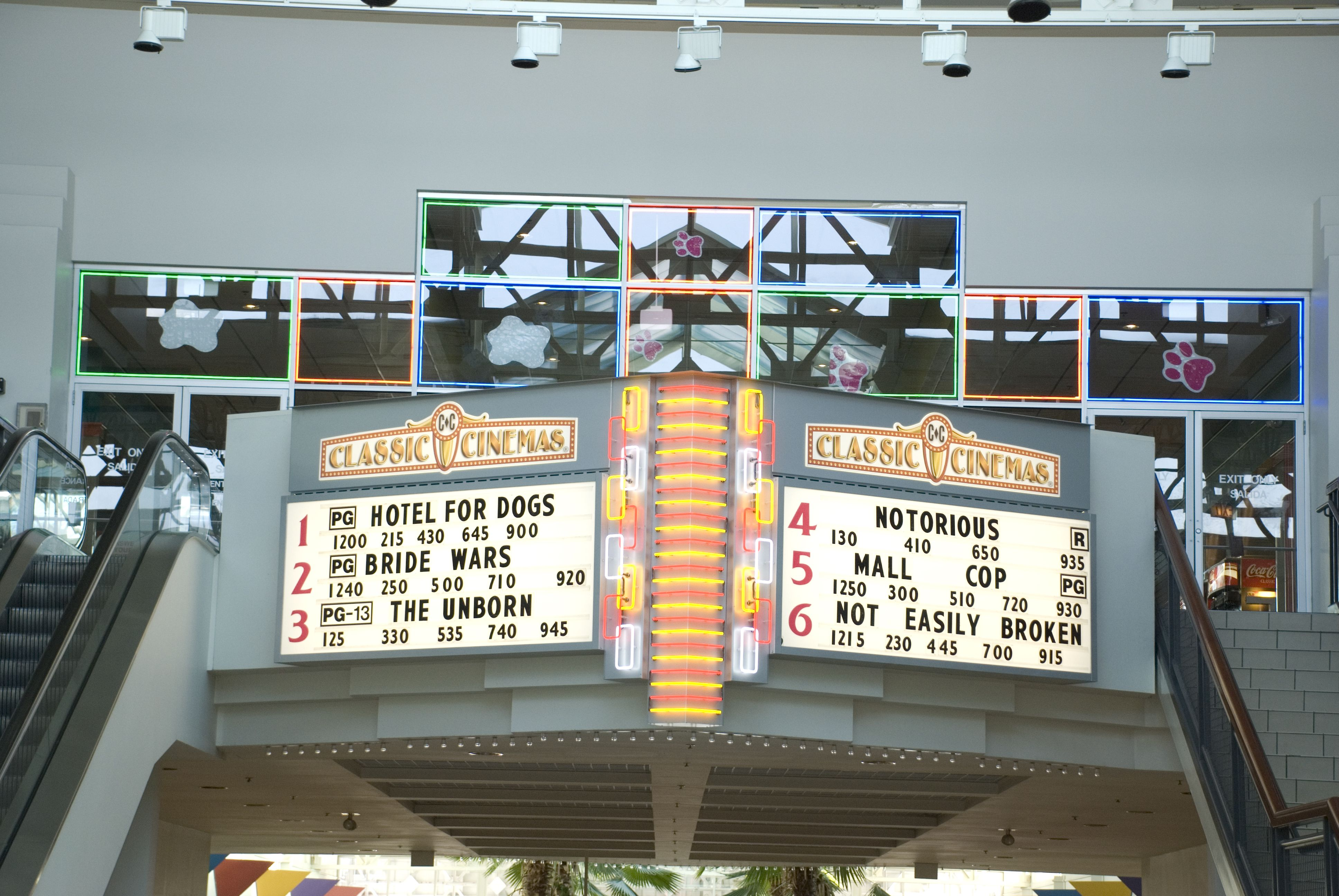 North Riverside Mall Theatre In Located Just Above The Food Court In
