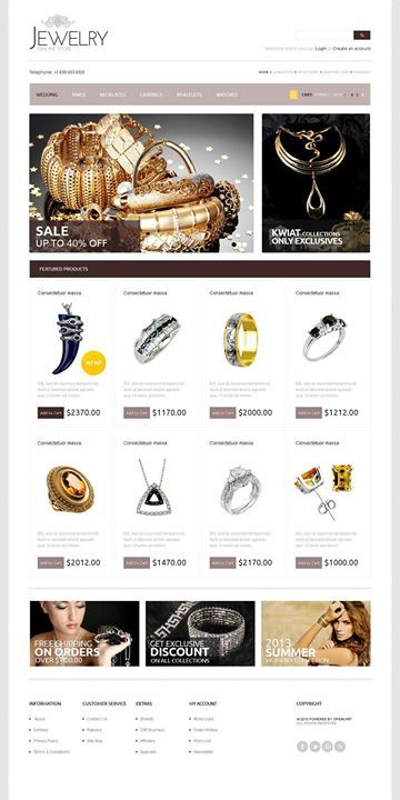 I think it's gorgeous! Yes or no?   Royal Jewelry OpenCart Template CLICK HERE! live demo  http://cattemplate.com/template/?go=2eyzRYD