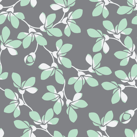 Blooms-ch-ch-ch fabric by joanmclemore on Spoonflower - custom fabric