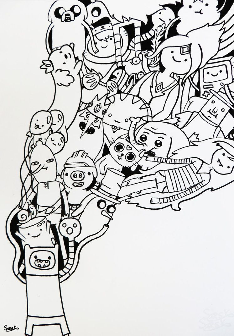 Adventure Time Doodle By Zilverlovely Printables