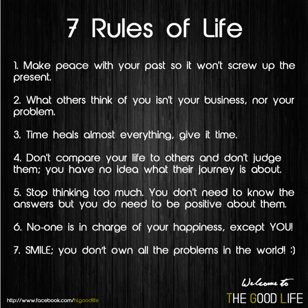7 Rules Of Life Quote: WW - Motivational Quote, The