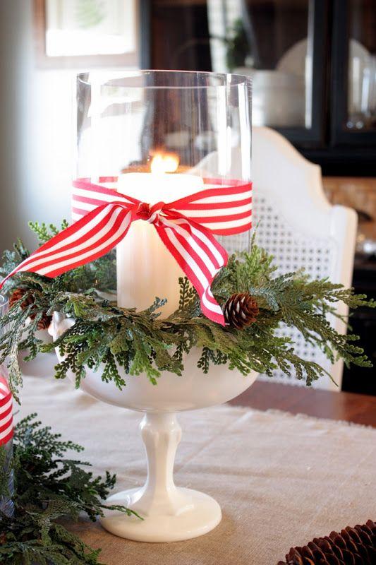 #Christmas table idea #candle