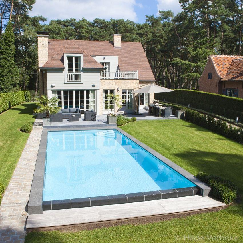 Monobloc zwembad in polypropyleen luxe buitenzwembad met for Zwembad achtertuin