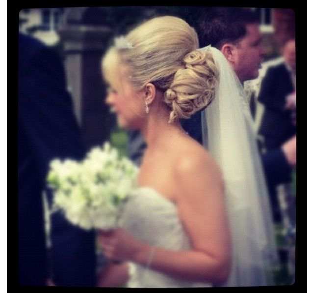 A lovely bride on her wedding day