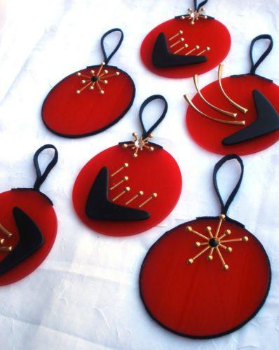 Midcentury Ornaments Starburst Atomic Boomerang Retro Decor 3 Christmas Tree Retro Decor Christmas Inspo Christmas Tree Ornaments