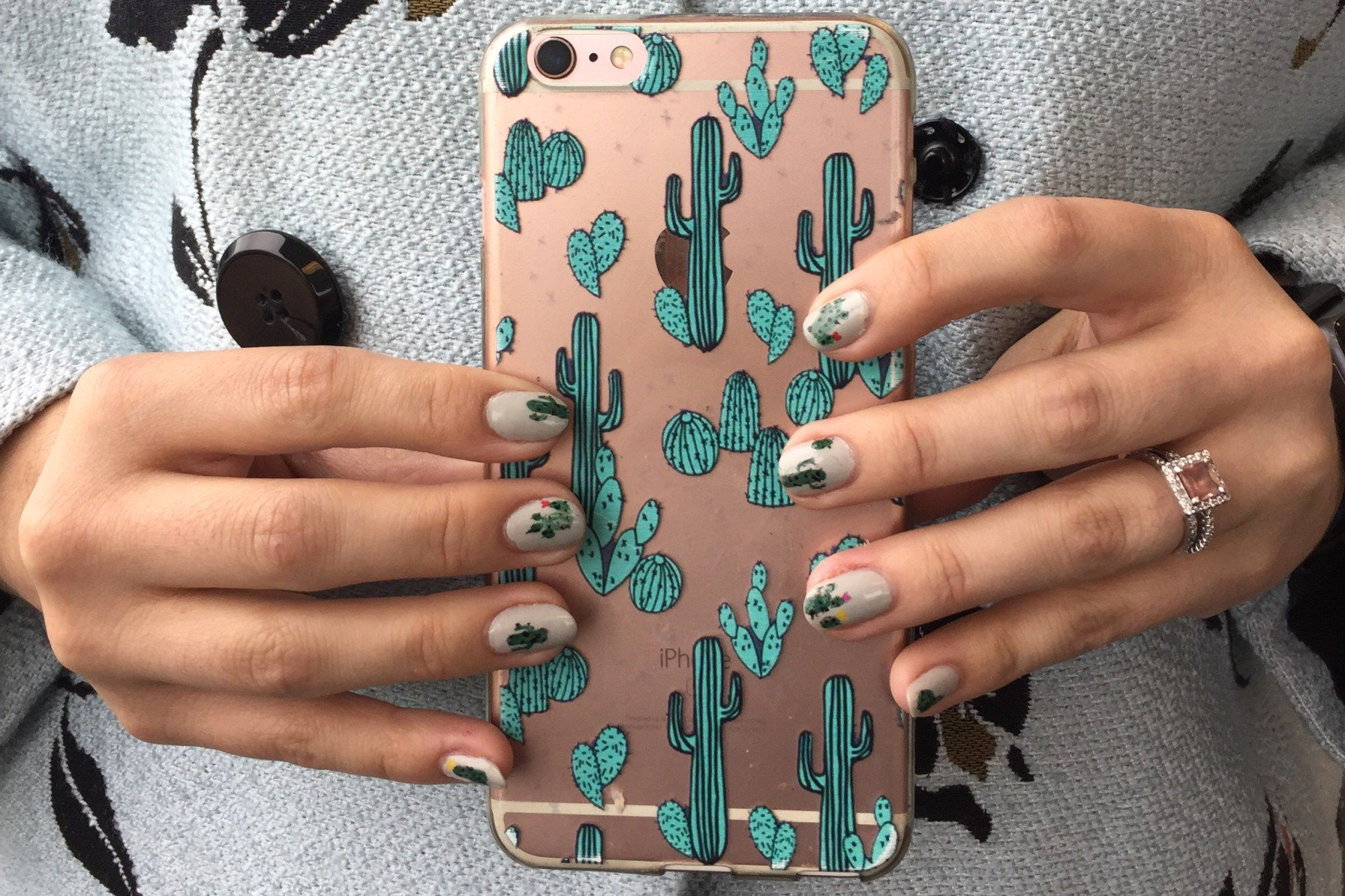 Cactus Nail Art | Painted nail art and Art nails