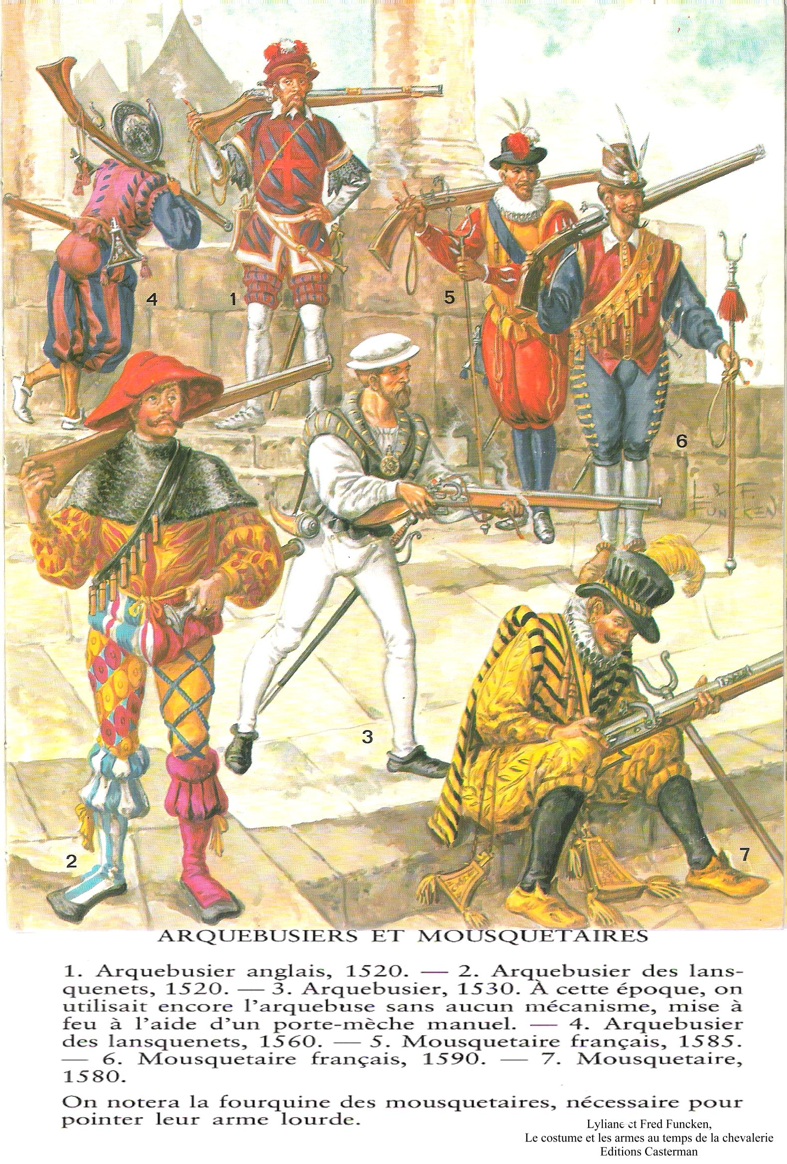 Arquebusiers and Musketeers 1520-1590 by L & F Funken
