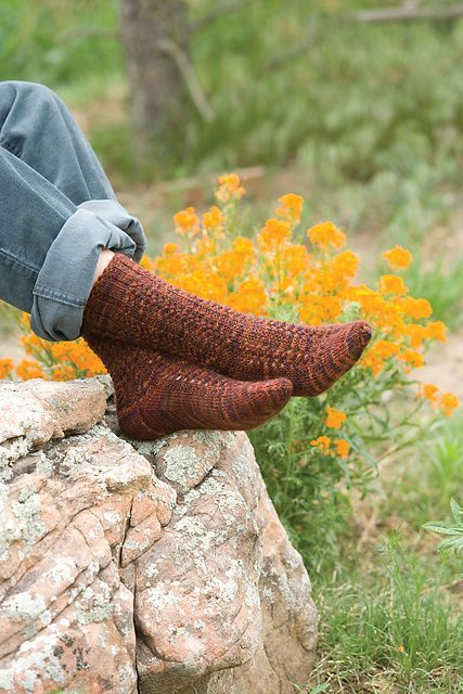 Ravelry: Copper Penny Socks pattern by Nancy Bush