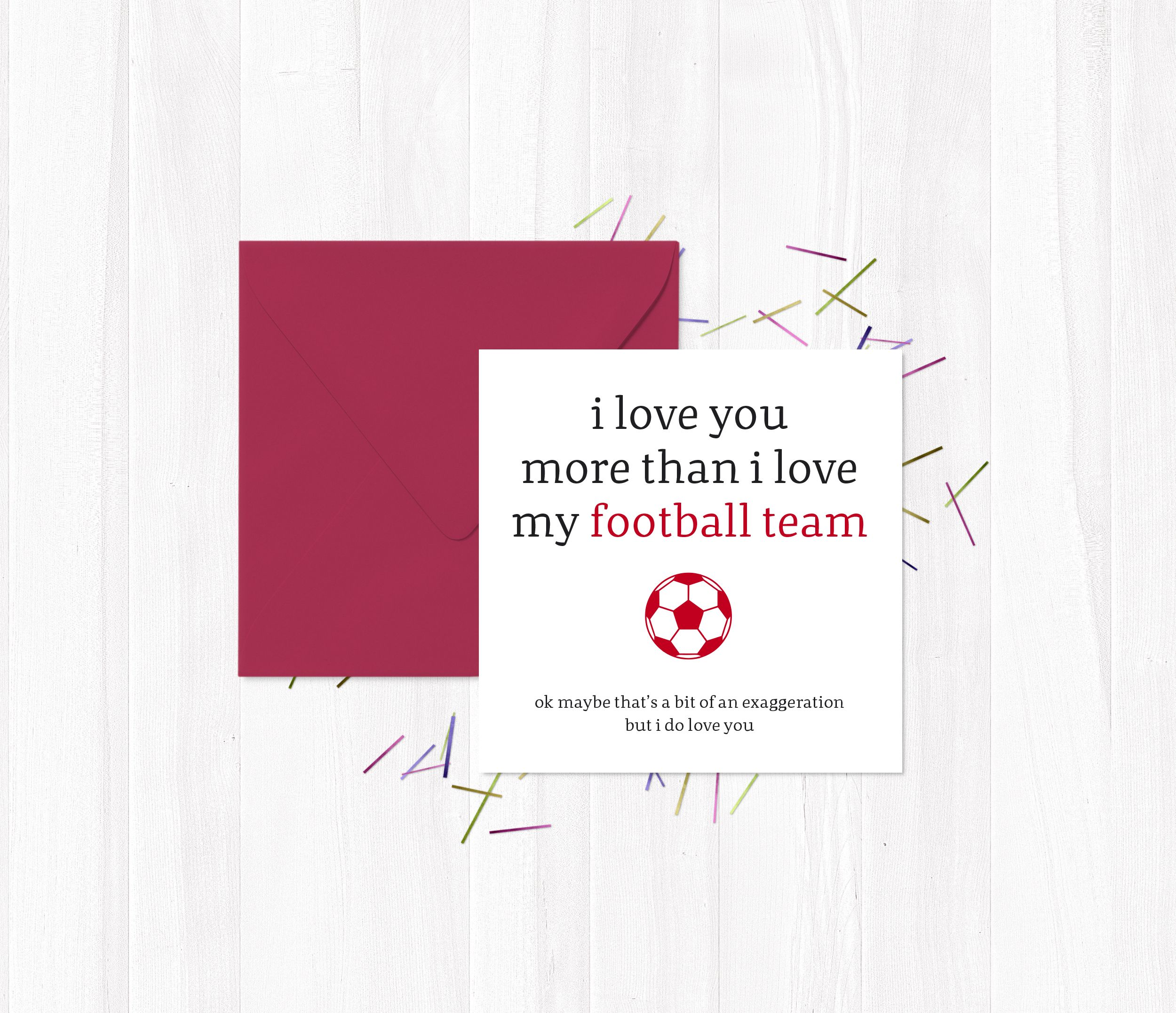 Rude greetings cards i love you more than i love my football team rude greetings cards i love you more than i love my football team football kristyandbryce Choice Image