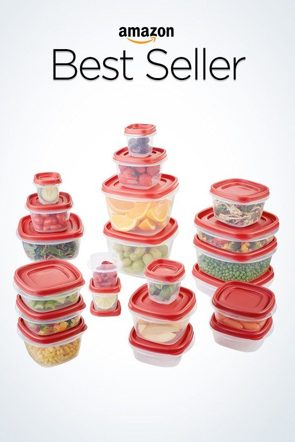 Rubbermaid Easy Find Lids Food Storage Container 42 Piece Set Red