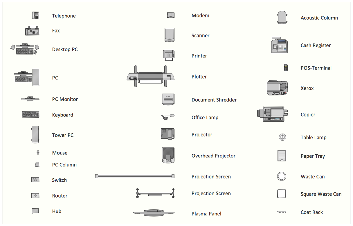 office layout plan design element [ 1216 x 780 Pixel ]